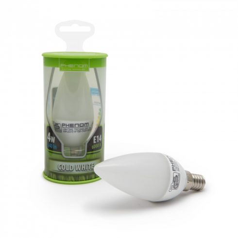 Phenom LED izzó 4W E14 hideg fehér