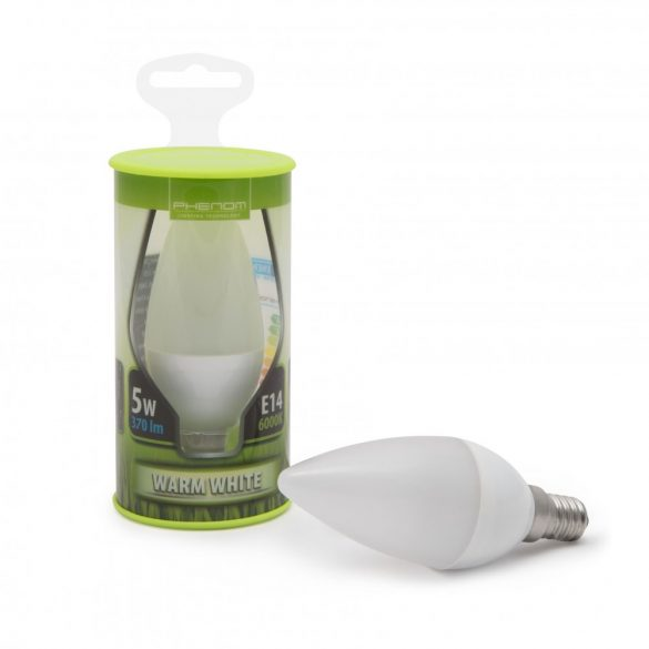 Phenom LED izzó 5W E14 meleg fehér