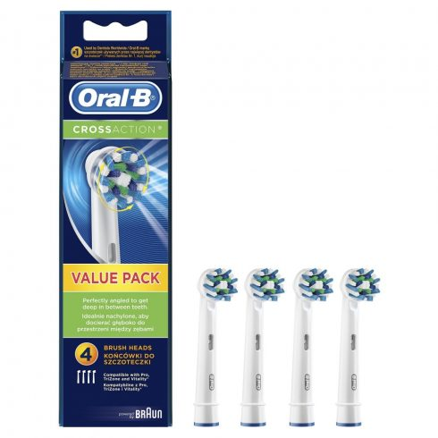 Oral-B Cross Action fogkefefej 4 db (EB50-4)