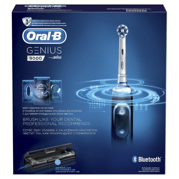 Oral-B Genius 9000 elektromos fogkefe helyzetérzékelővel, fekete