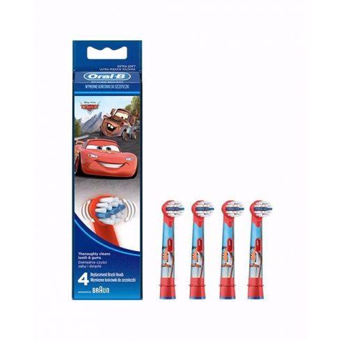 Oral-B  EB10-4 Cars (Verdák) fogkefefej (4db)