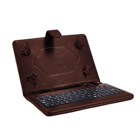 """Astrum TK080 univerzális tablet tok billentyűzettel USB micro és mini 7/8"""", barna"""