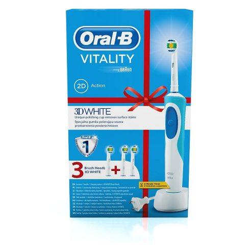 Oral-B Vitality 3D White elektromos fogkefe 3 db fogkefefejjel, limitált kiadás