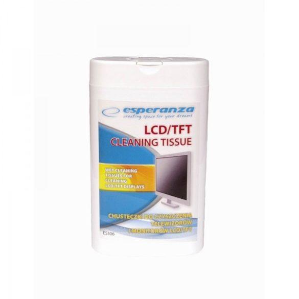ESPERANZA LCD/TFT nedves tisztítókendő (100db)