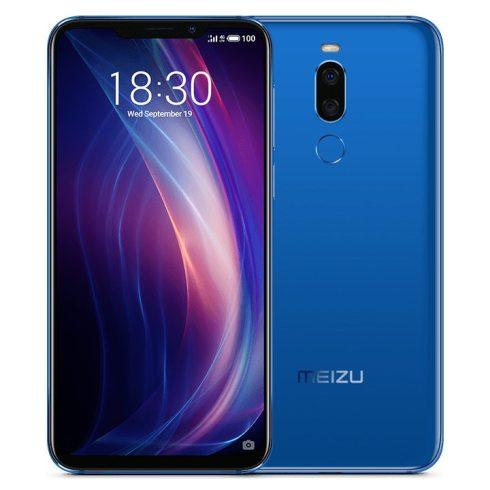 Meizu X8 6/128 okostelefon, kártyafüggetlen, kék