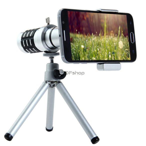 Quazar Mobilescope Zoom Teleobjektív okostelefonokhoz mini fotóállvánnyal