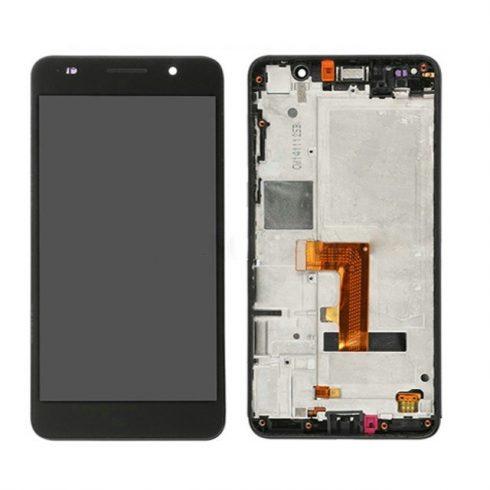 Huawei Honor 6 fekete LCD kijelző érintővel és kerettel
