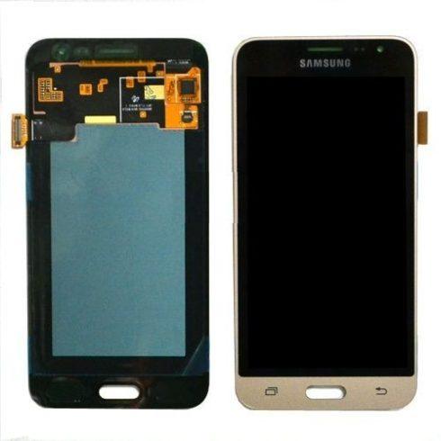 Samsung J320F Galaxy J3 (2016) arany gyári LCD kijelző érintővel keret nélkül