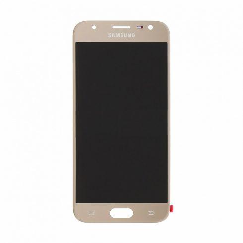 Samsung J330 Galaxy J3 (2017) arany gyári LCD kijelző érintővel keret nélkül