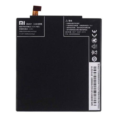 Xiaomi BM31 gyári akkumulátor Li-Ion 3050mAh (Xiaomi Mi3)