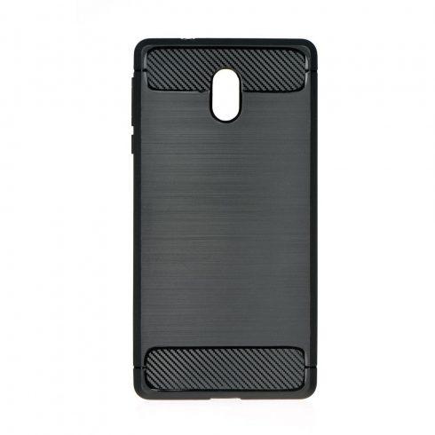 Nokia 3 Carbon vékony szilikon tok szürke
