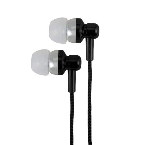 Astrum EB250 fekete sztereó headset mikrofonnal, prémium hangzással