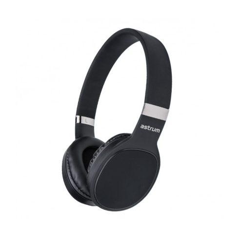 Astrum HT400 sztereó összecsukható fejhallgató beepitett mikrofonnal, fekete