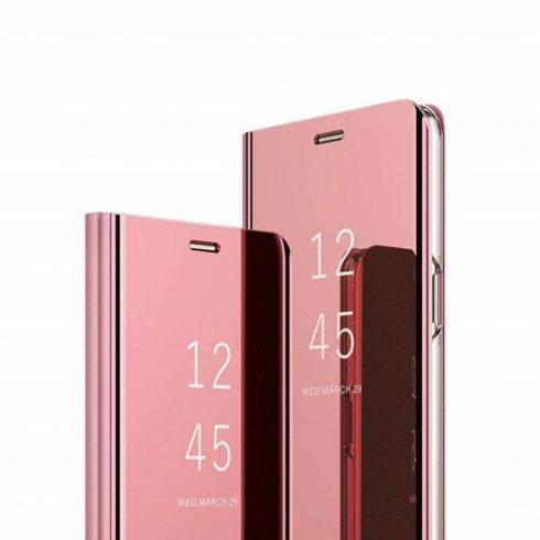 Xiaomi Mi 9T / Mi 9T Pro (Redmi K20/Redmi K20 pro) clear view oldalra nyíló okos tok, rózsa arany (pink)