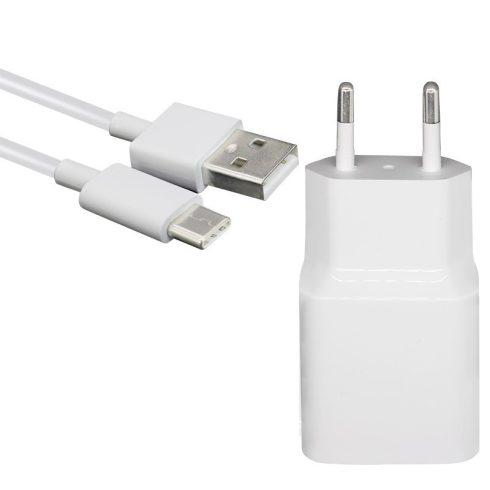 Xiaomi MDY-10-EF gyári hálózati fehér gyors töltőfej 3A + type-c usb kábel 1m