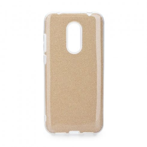 Forcell Shining Xiaomi Redmi 5 Plus fényes szilikon tok, arany