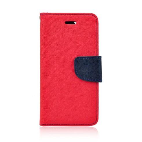 Xiaomi Redmi Note 5 (global) Fancy tépőzáras könyv tok, piros-kék