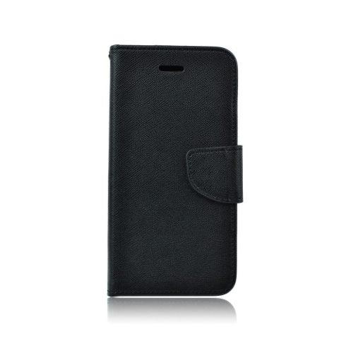 Xiaomi Redmi 6A Fancy tépőzáras könyv tok, fekete