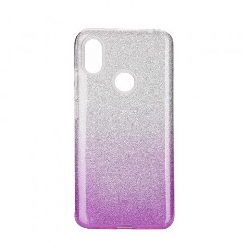 Forcell Shining Xiaomi Redmi S2 fényes szilikon tok, ezüst-lila