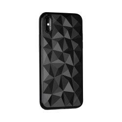 Forcell Prism Xiaomi Pocophone F1 fekete szilikon tok, prizma minta