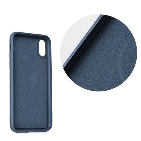 Xiaomi Redmi 6 beépített mágneses fémkoronggal puha matt tok, forcell soft magnet, kék