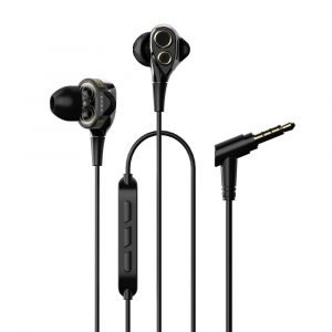 UiiSii BA-T8 Dual Dynamic In-ear fülhallgató 3,5mm, fekete