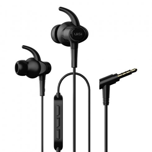 UiiSii Hi-710 Hi-Res Audio sport fülhallgató 3,5mm, fekete