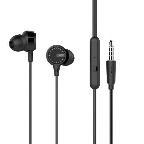 UiiSii U8 Premium Sound In-ear fülhallgató 3,5mm, fekete