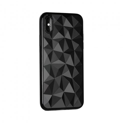 Forcell Prism Xiaomi Redmi 6A fekete szilikon tok, prizma minta