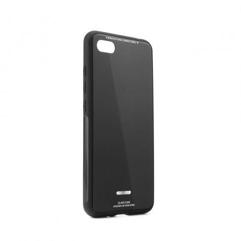 Forcell Glass Xiaomi Redmi 6A üvegfelületű tok, fekete