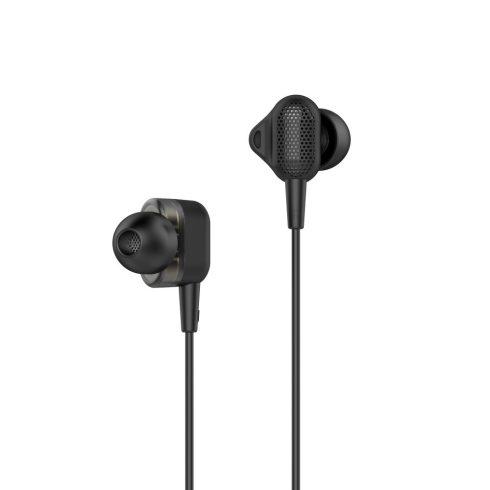 UiiSii-Tuddrom H3 Dual Dynamic Drivers fülhallgató 3,5mm, fekete