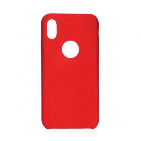 Xiaomi Redmi Note 7 merevebb matt szilikon tok, piros (vezeték nélküli töltő kompatibilis)
