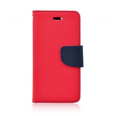 Xiaomi Redmi 7 Fancy mágneses könyv tok, piros-kék