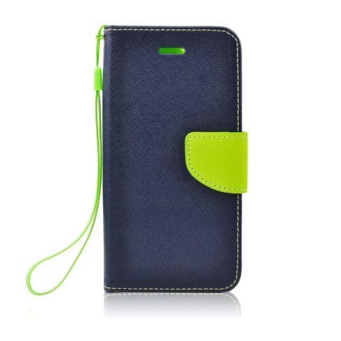 Xiaomi Redmi 7 Fancy mágneses könyv tok, kék-lime