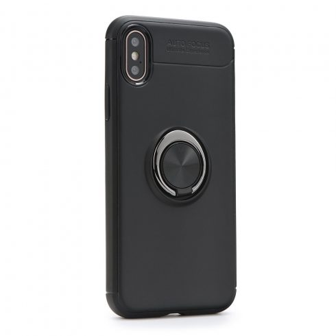 Xiaomi Redmi 7 forcell ring tok, fekete