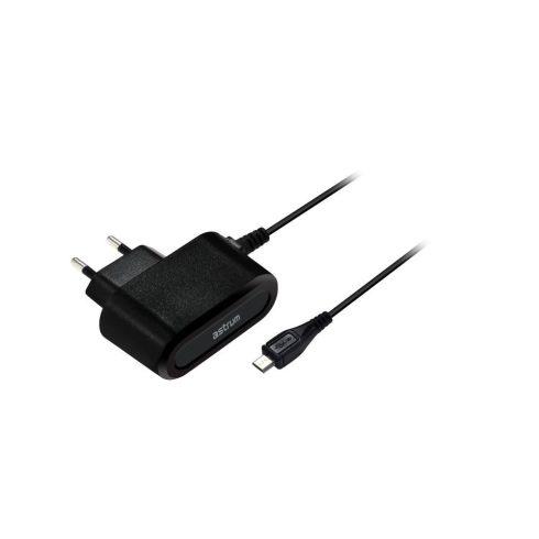Astrum CH100 1.0A micro USB hálózati töltő 1,5M kábellel EU fekete