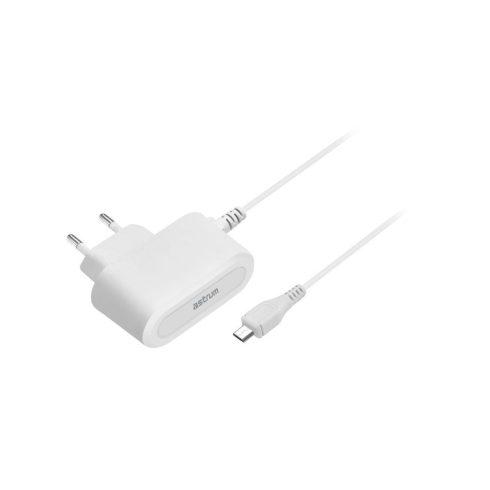 Astrum CH100 1.0A micro USB hálózati töltő 1,5M kábellel EU fehér